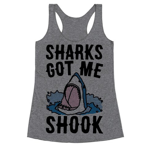 Sharks Got Me Shook Racerback Tank Top