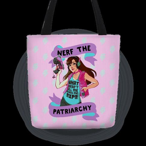 Nerf The Patriarchy Parody Tote