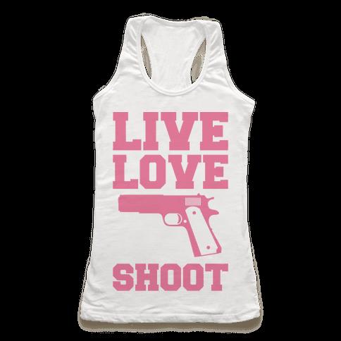 Live Love Shoot Racerback Tank Top