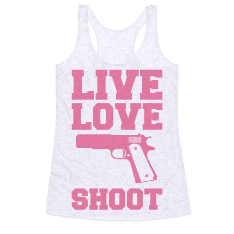 Live Love Shoot Racerback Tank Top