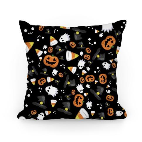 Spoopy Halloween Pattern Pillow