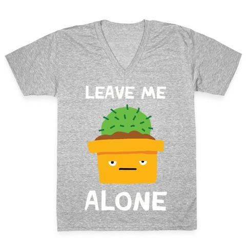 Leave Me Alone Cactus V-Neck Tee Shirt