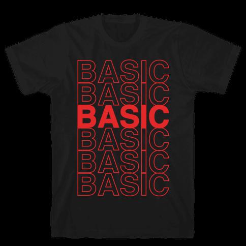 Basic Thank You Grocery Bag Parody White Print Mens T-Shirt
