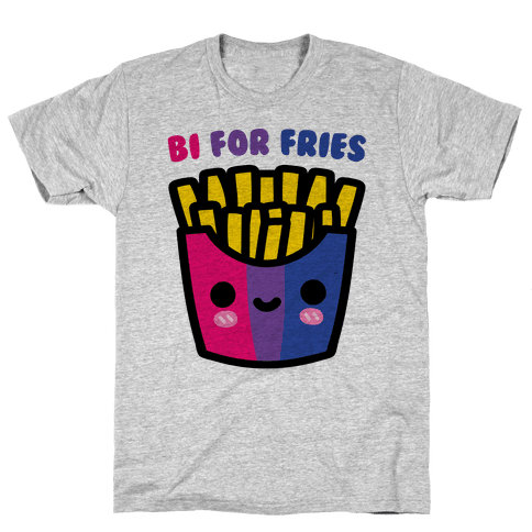 Bi For Fries Mens T-Shirt