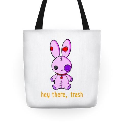 Creepy Cute Rag Bunny  Tote
