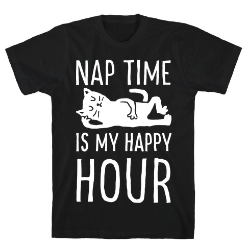 Nap Time Is My Happy Hour Cat Mens T-Shirt
