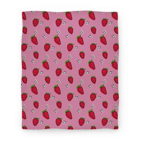 Sketchy Strawberry Pattern Blanket