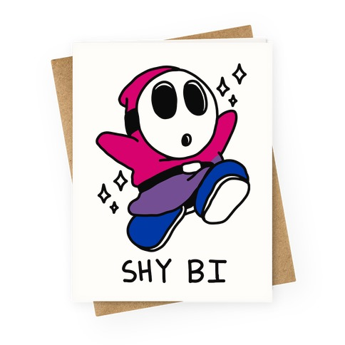 Shy Bi Greeting Card
