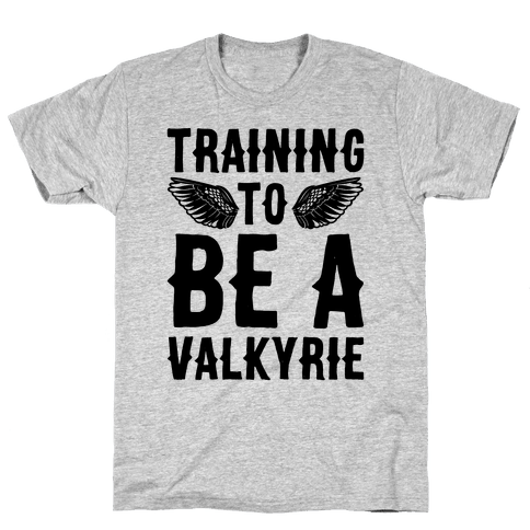 Training To Be A Valkyrie Parody Mens T-Shirt