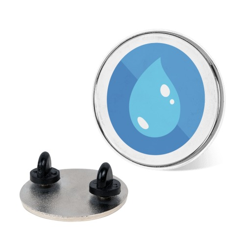 Water Type Pokemon Icon/Badge Pin