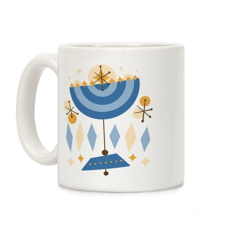 Mid-Century Modern Menorah (Hanukkah) Coffee Mug