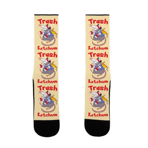Trash Ketchum Sock