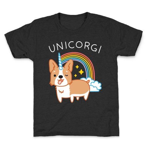Unicorgi Corgi Unicorn Kids T-Shirt