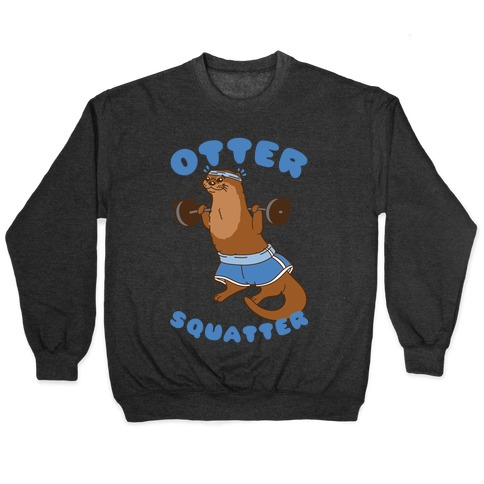 Otter Squatter White Print Pullover