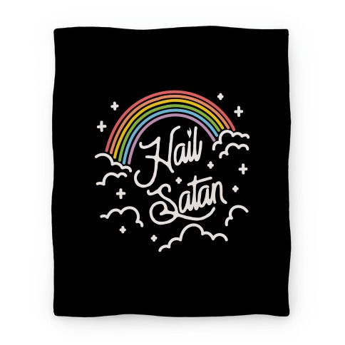 Hail Satan Rainbow Blanket