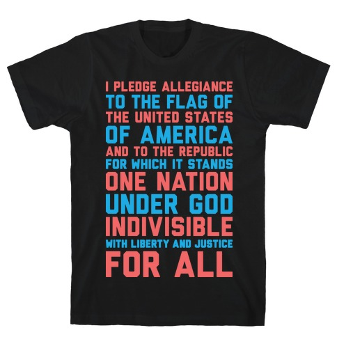 Pledge Of Allegiance  Mens T-Shirt