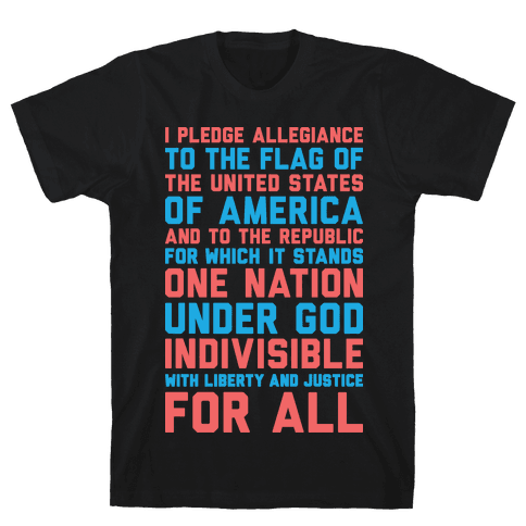 Pledge Of Allegiance  Mens T-Shirt
