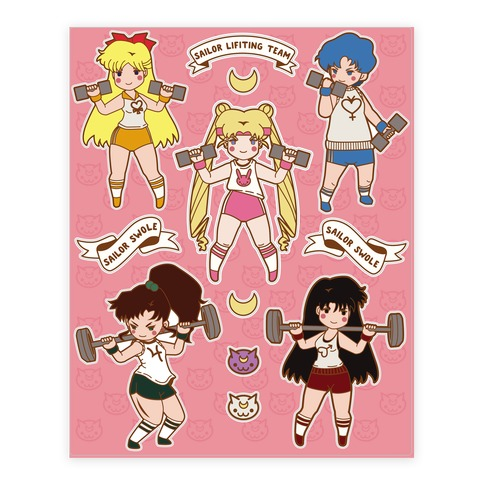 Sailor Lifting Team Sticker/Decal Sheet