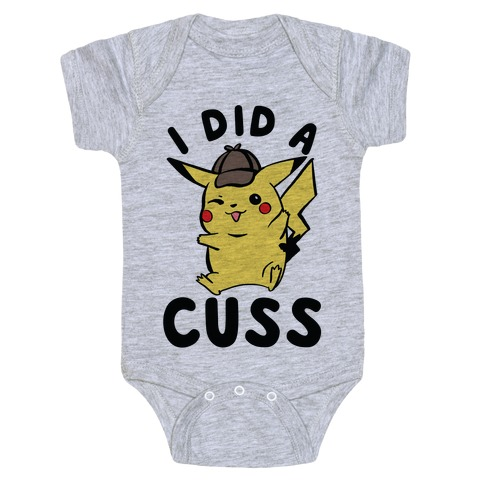 I Did a Cuss Detective Pikachu Parody Baby Onesy