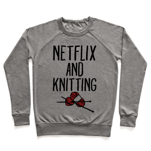 Netflix and Knitting Pullover