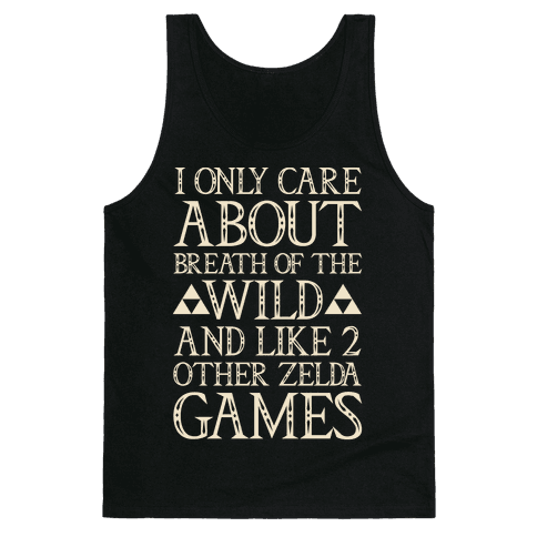 I Only Care About Breath of The Wild White Print Tank Top