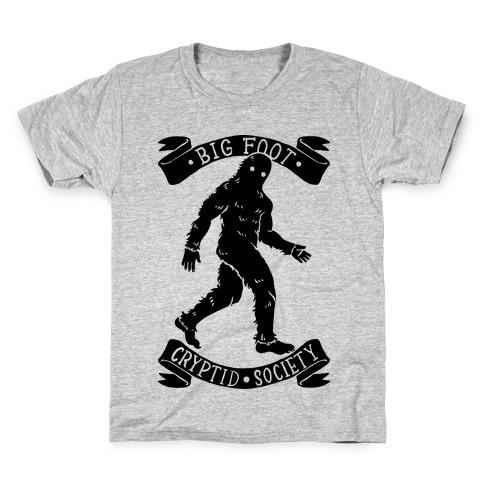 Big Foot Cryptid Society Kids T-Shirt