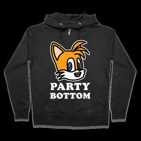 Party Bottom Zip Hoodie