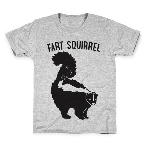 Fart Squirrel Skunk Kids T-Shirt