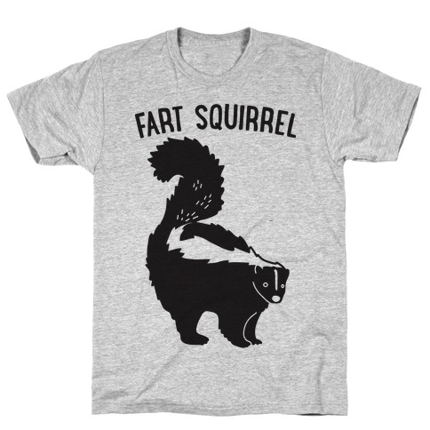 Fart Squirrel Skunk T-Shirt