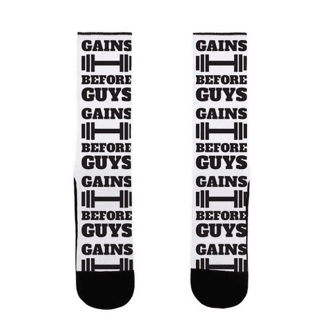 Gains Before Guys Sock