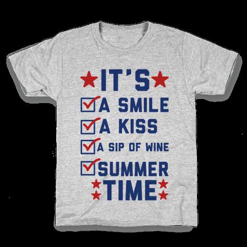 It's Summer Time Kids T-Shirt