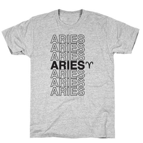 Aries - Zodiac Thank You Parody T-Shirt