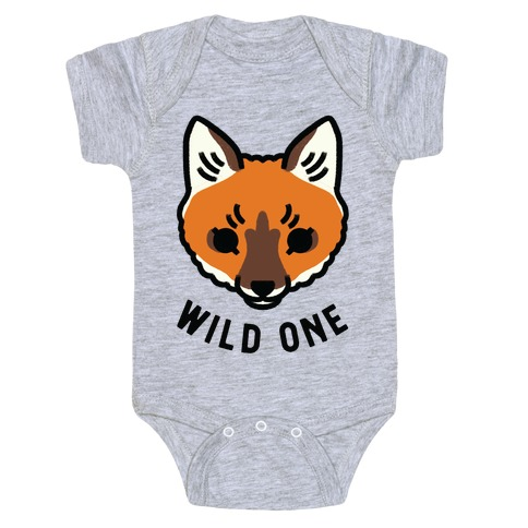 Wild One Fox Baby Onesy