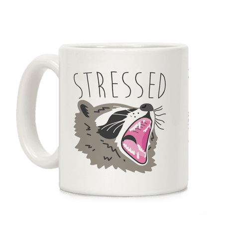 Stressed Raccoon Coffee Mug