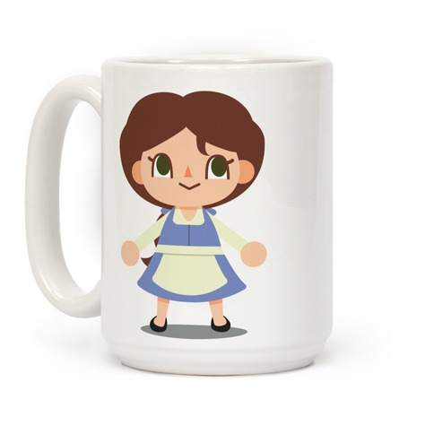 Princess Crossing Belle Parody Blue Coffee Mug