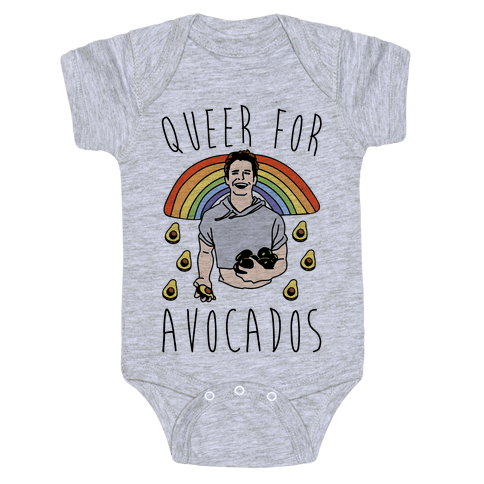 Queer For Avocados Parody  Baby Onesy