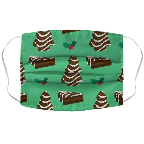 Holiday Tree Cake Pattern (Chocolate) Accordion Face Mask