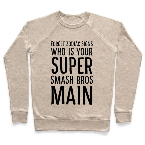 Forget Zodiac Signs, Who is Your Super Smash Bros Main Pullover