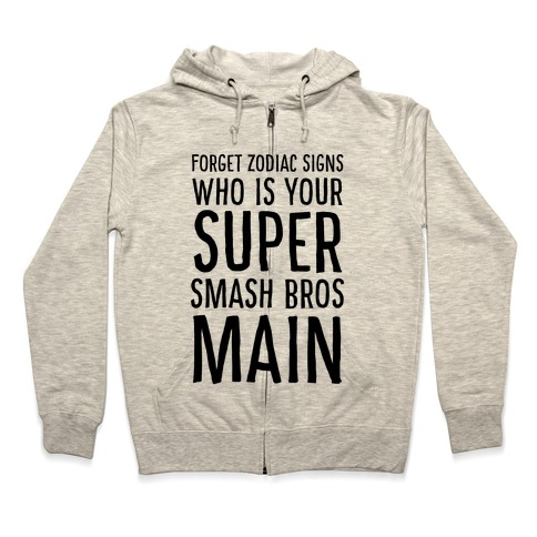 Forget Zodiac Signs, Who is Your Super Smash Bros Main Zip Hoodie