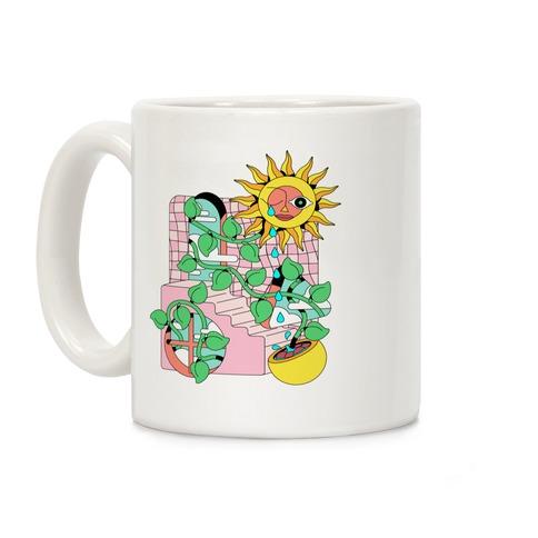 Trippy Sunflower Shower  Coffee Mug