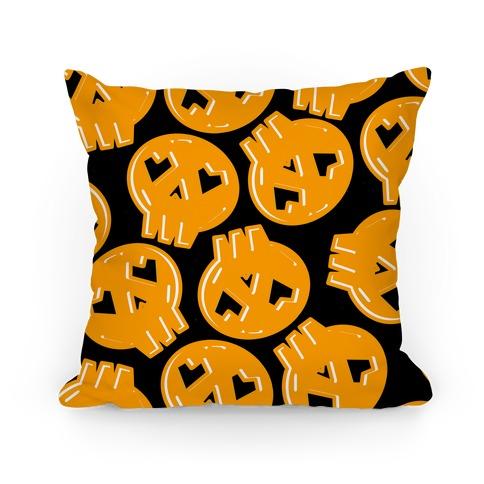 Festive Skull Pattern Pillow