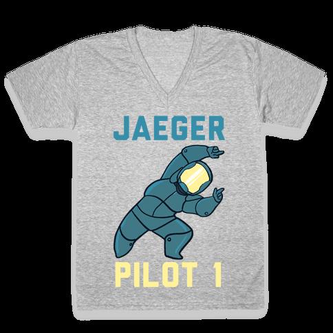 Jaeger Pilot 1 (1 of 2 Pair) V-Neck Tee Shirt