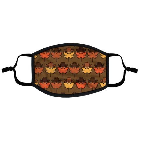 YeeHaw Fall Leaves Pattern Flat Face Mask