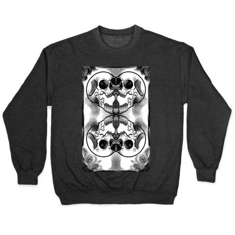 Skull Inkblot Pullover