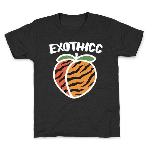 Exothicc Tiger Peach Kids T-Shirt