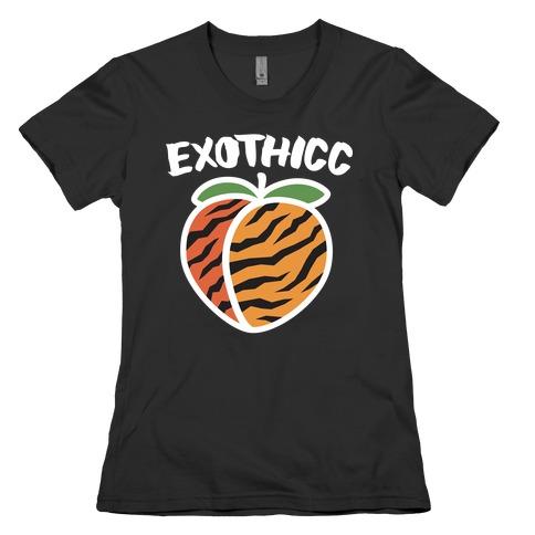Exothicc Tiger Peach Womens T-Shirt