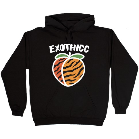Exothicc Tiger Peach Hooded Sweatshirt