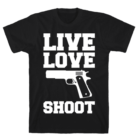 Live Love Shoot Mens T-Shirt