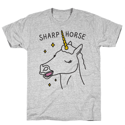 Sharp Horse Mens T-Shirt