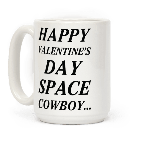 Happy Valentine's Spacecowboy Coffee Mug